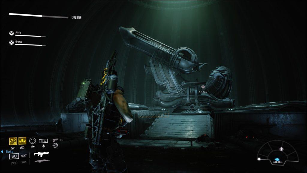 Technologia Inżynierów pokazana w Aliens: Fireteam Elite