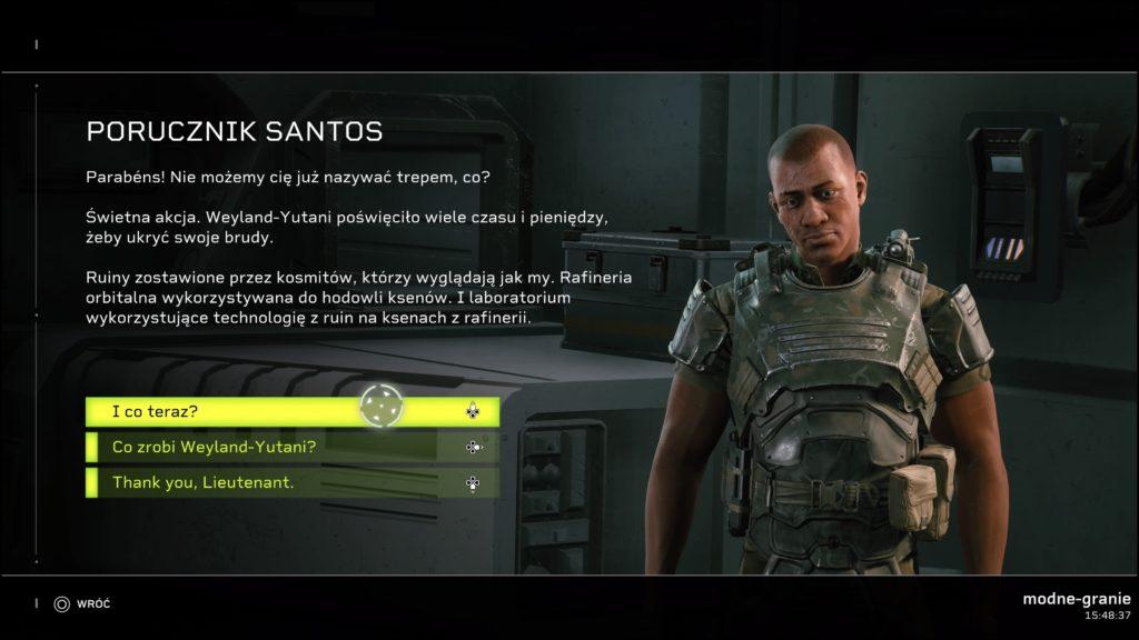 Rozmowa z NPC w Aliens: Fireteam Elite