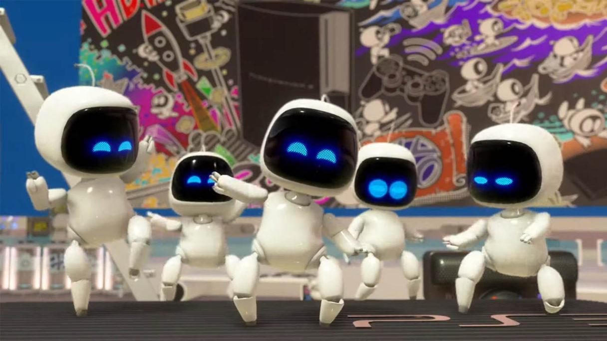 Astro's Playroom - roboty