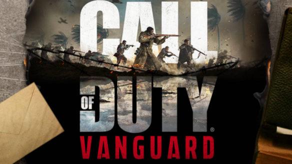 Call of Duty Vanguard - logo gry na biurku i list