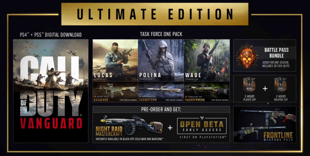 Call of Duty Vanguard - Ultimate Edition - zawartość edycji