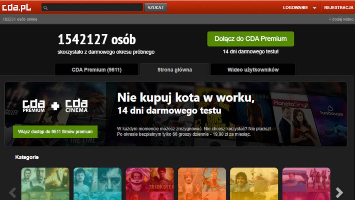 CDA PL - widok strony startowej