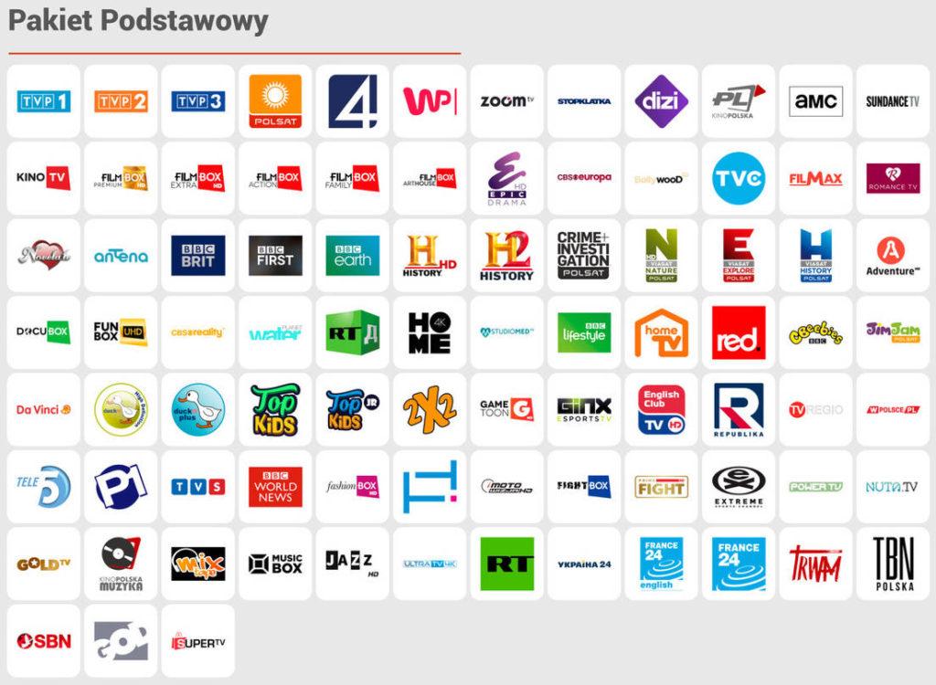 CDA TV - pakiet Podstawowy - lista kanałów telewizyjnych