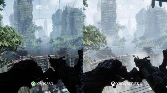Crysis Remastered Trilogy - porównanie Xbox Series X do X360