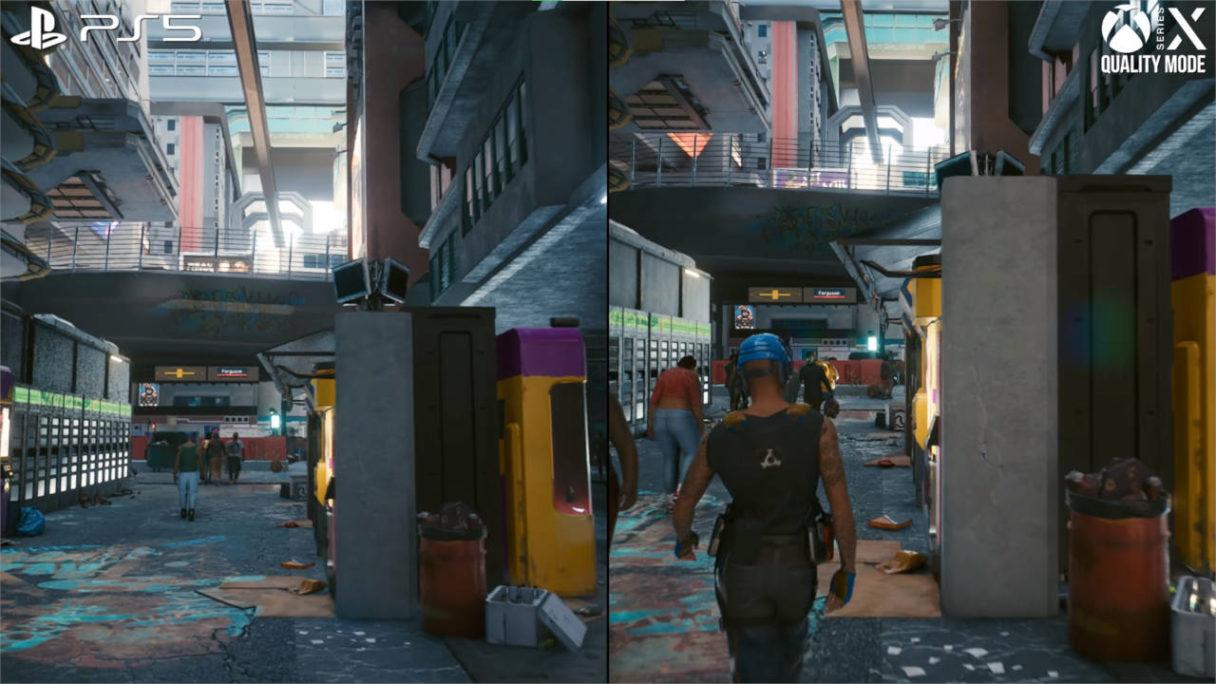 Cyberpunk 2077 - porównanie graficzne PS5 i Xbox Series X S