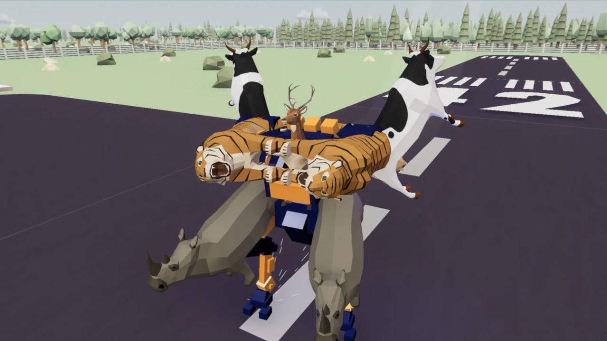 DEEEER Simulator - jeleń połączył się z innymi zwierzętami w megazorda