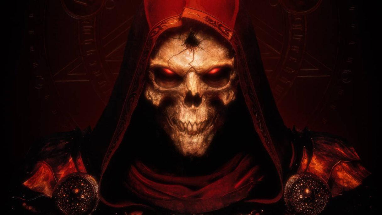 Diablo 2 Resurrected - diabeł z okładki gry