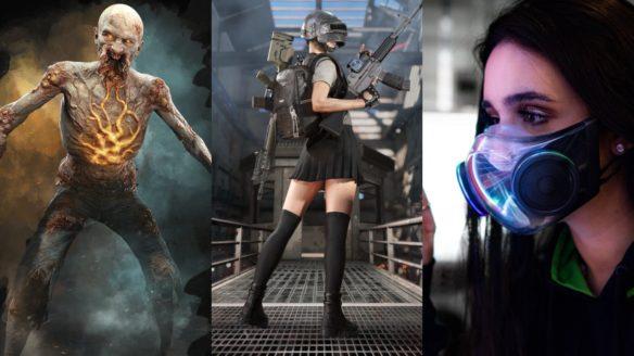 DoGRywka - krzykacz z Dying Light 2, dziewczynka w spódniczce z PUBG, kobieta z ubraną maską Razer Zephyr
