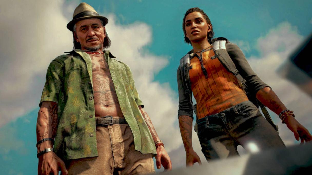 Far Cry 6 - Dani i jej kolega stoją i patrzą się w dół. Dani ma zniesmaczoną minę
