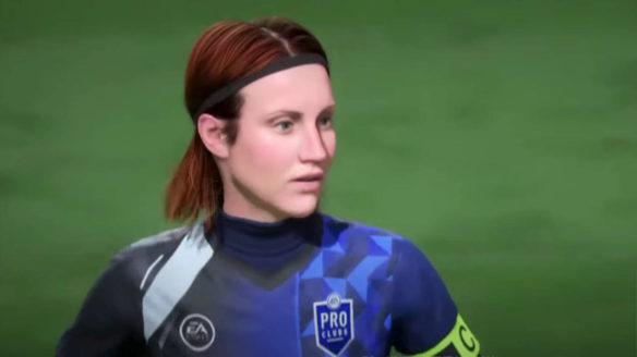 FIFA 22 - piłkarka stworzona przez gracza w trybie Pro Clubs