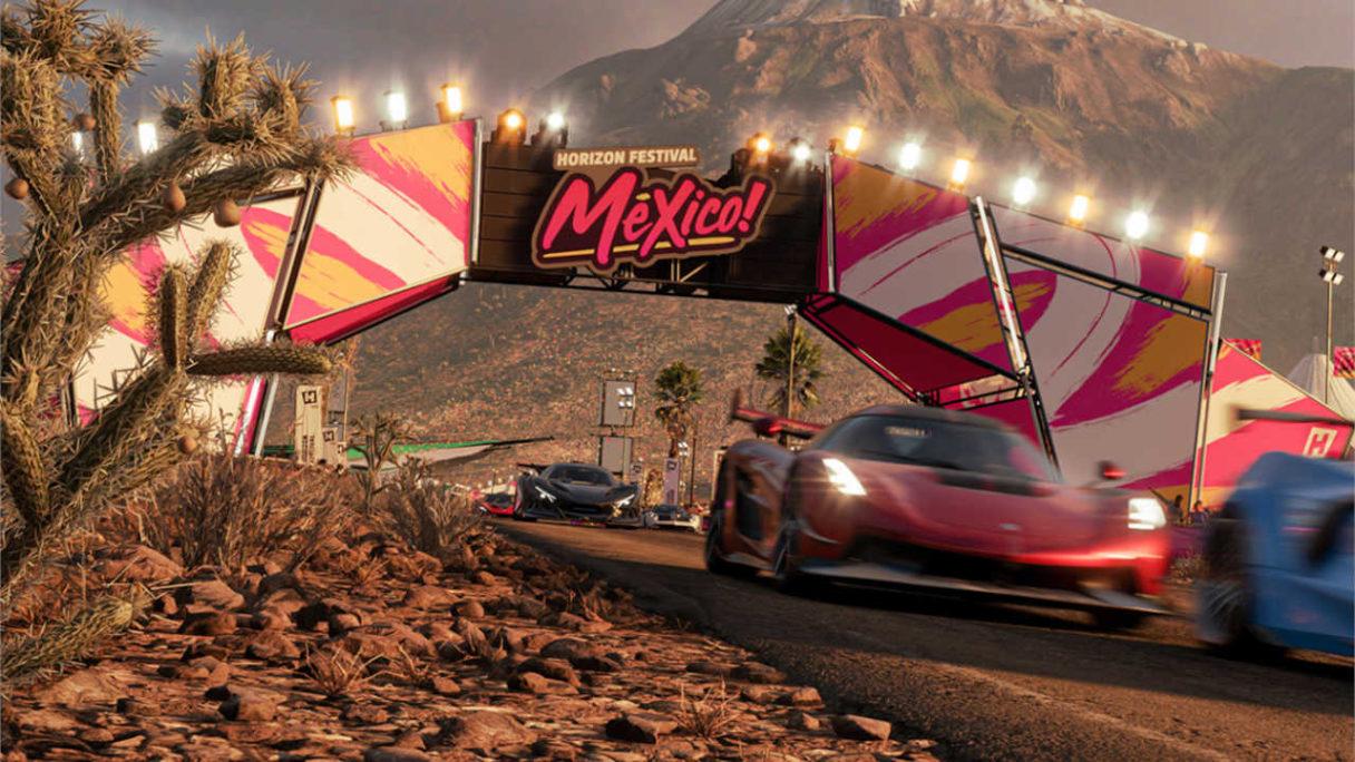 Forza Horizon 5 - wyścig samochodów - właśnie przekroczyły metę w Meksyku