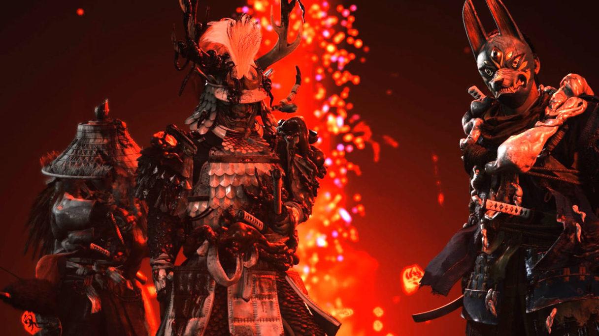 Ghost of Tsushima - samurajowie w maskach z trybu Legends