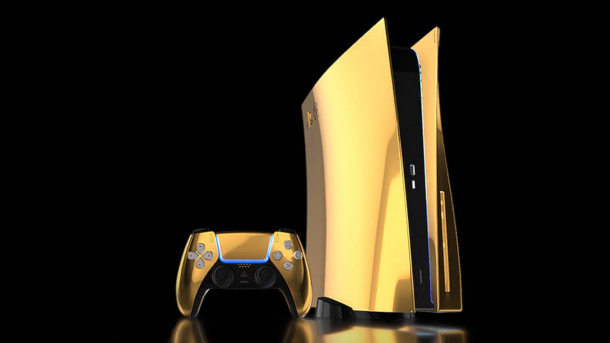 złote PS5 ze złotym DualSense