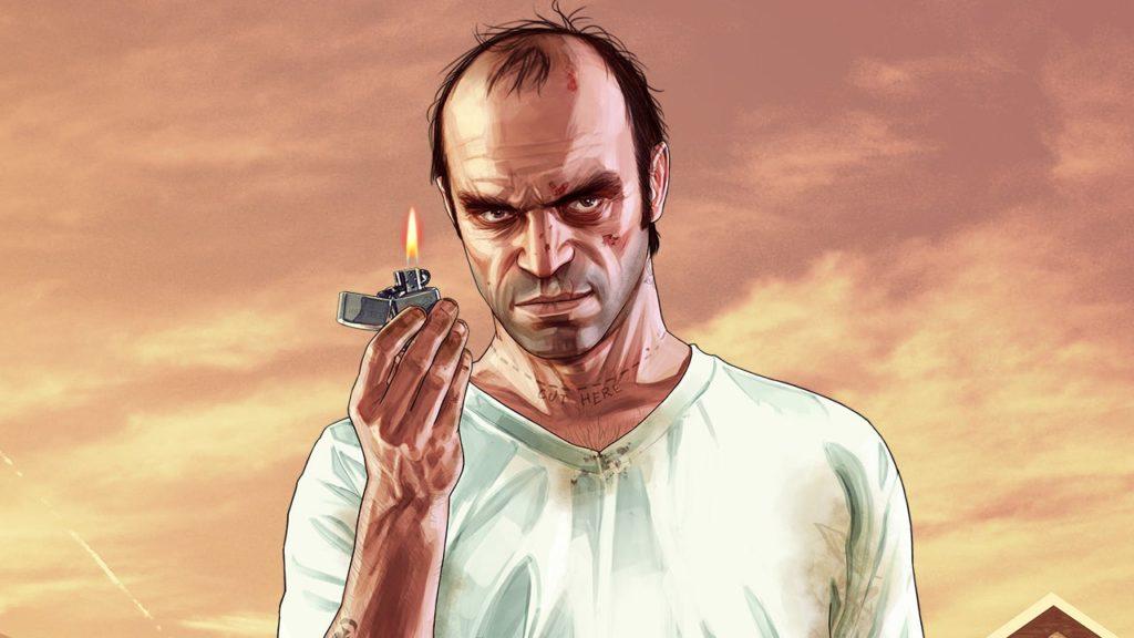 Trevor bawi się zapalniczką w GTA V