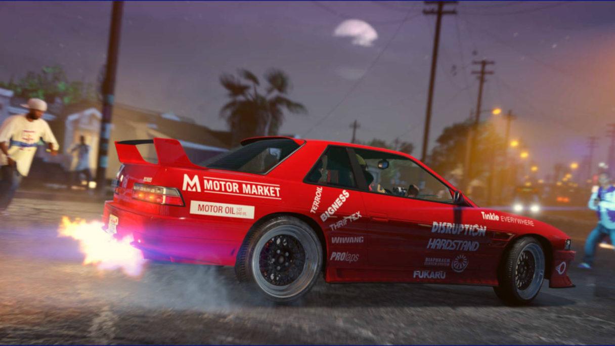 GTA Online - czerwony samochód odpala nitro