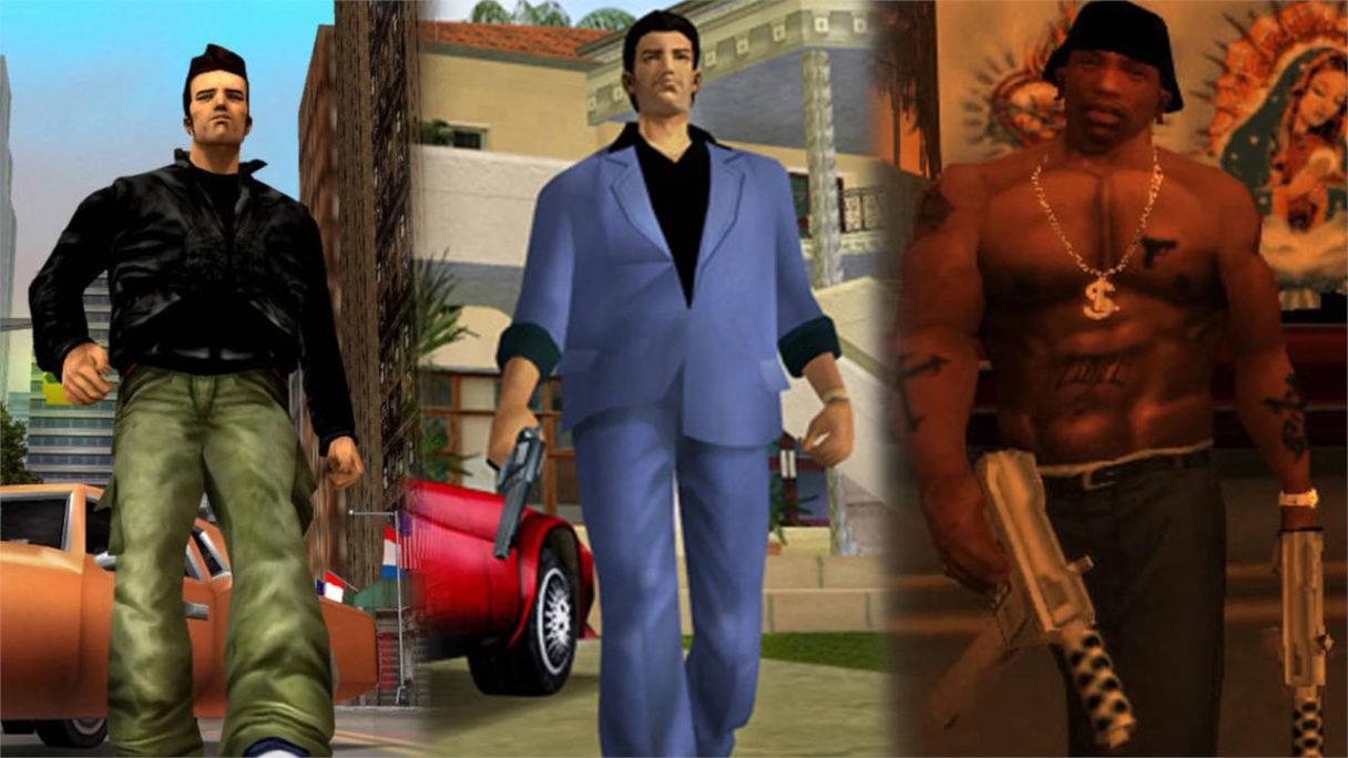 "GTA Trilogy Remake - główni bohaterowie ""trójki"", Vice City i San Andreas"
