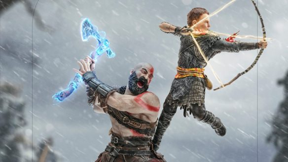 Kratos i Atreus figurka topór