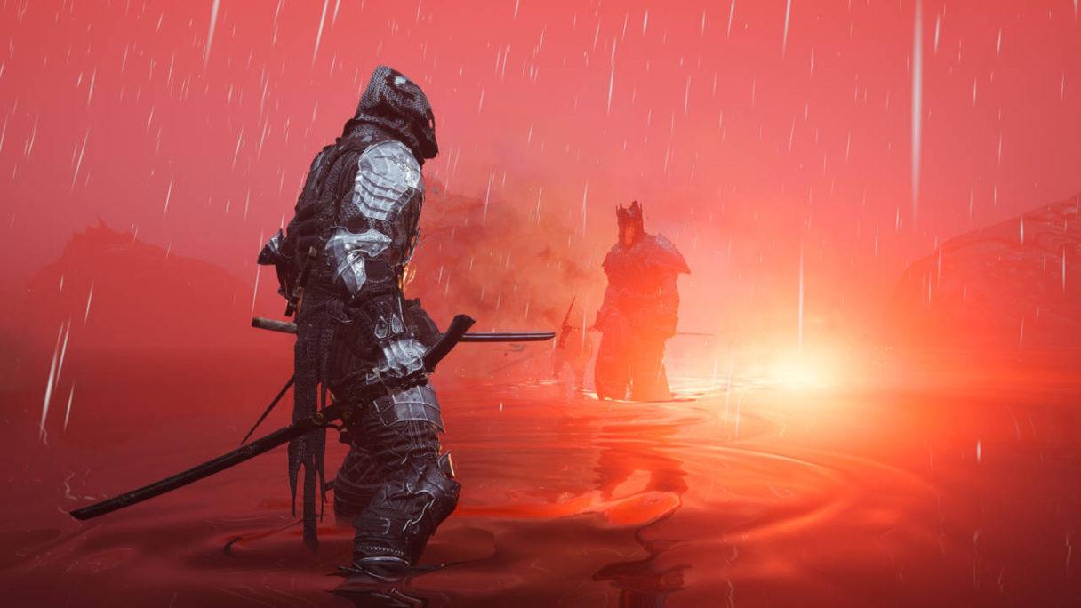 Mortal Shell - DLC - wojownicy walczą mając kostki w wodzie