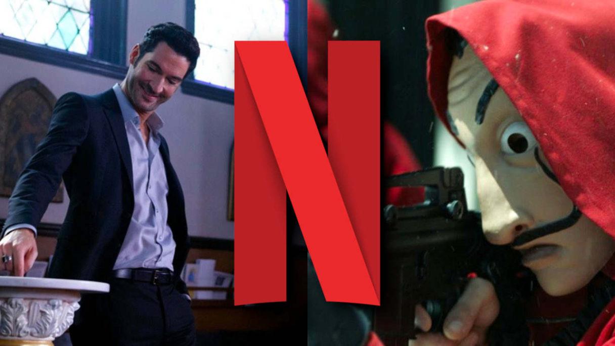 Netflix nowości wrzesień 2021 - Lucyfer macza palec w wodzie święconej i zamaskowany buntownik w masce Daliego mierzy z karabinu