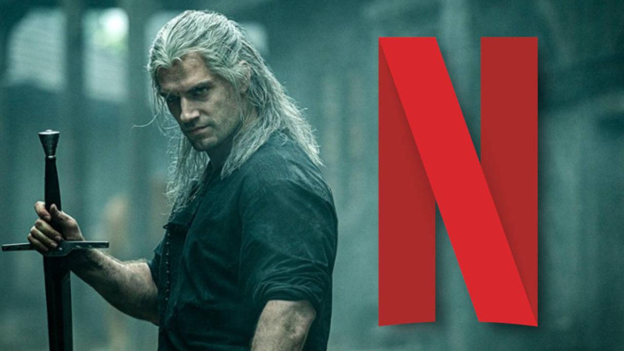Netflix - The Witcher - Wiedźmin i logo Netflix