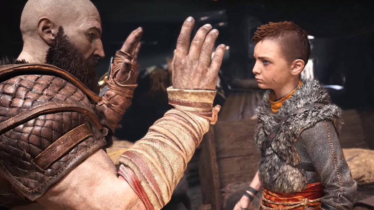 PlayStation 5 - Kratos i jego syn Atreus grają w łapki
