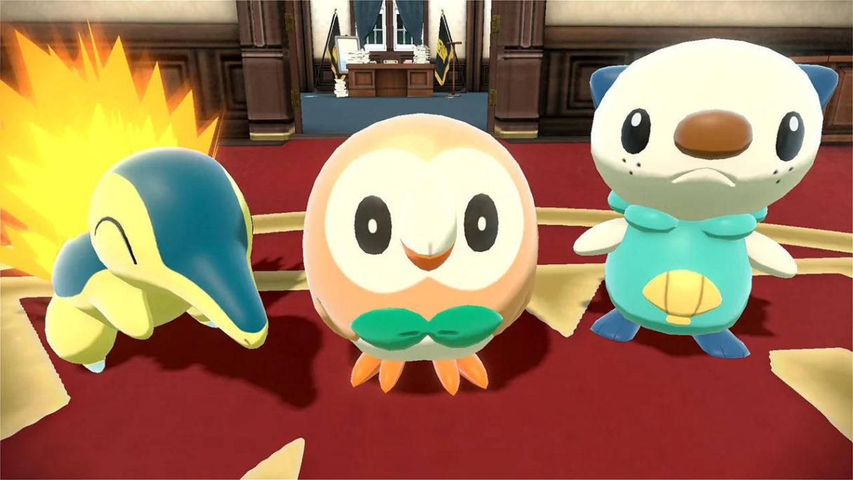 Pokemon Legends Arceus - Oshawott, Rowlett, Cyndaquil