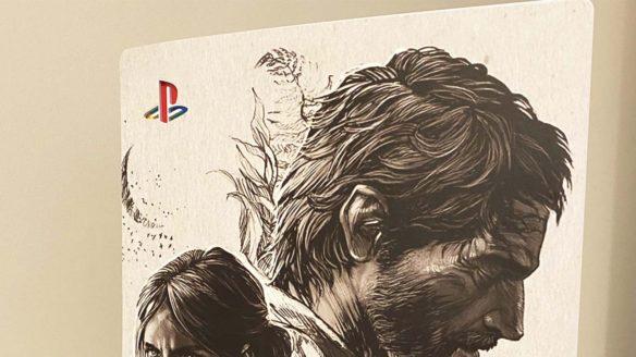 PS5 z grafiką The Last of Us