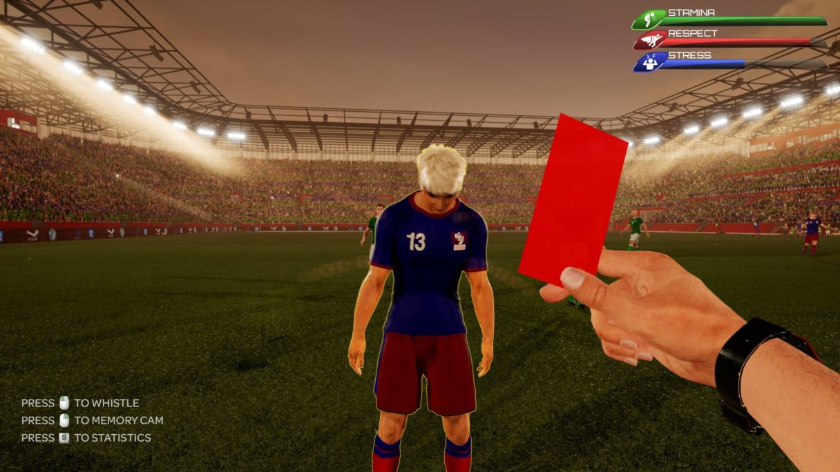 Referee Simulator PlayWay czerwona kartka
