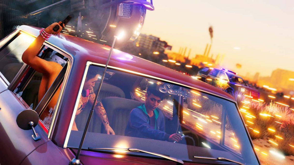 Saints Row - zrzut ekranu z pościgu