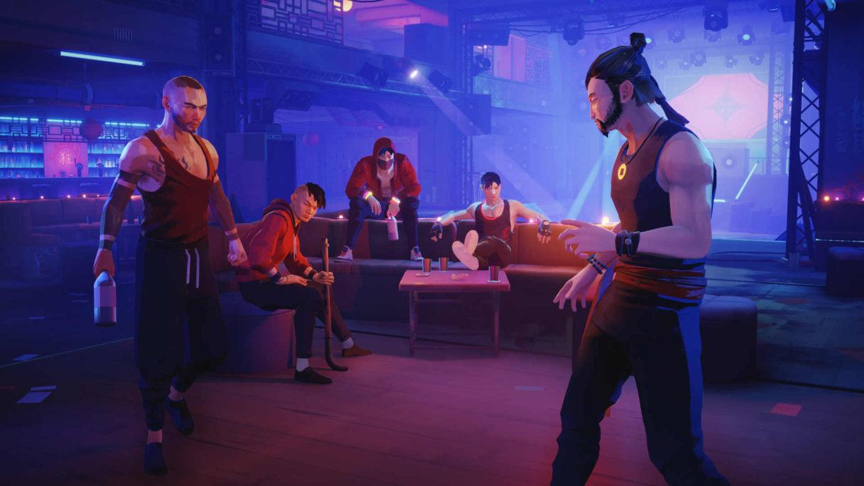 Mężczyzna w barze bije się z oprychami.