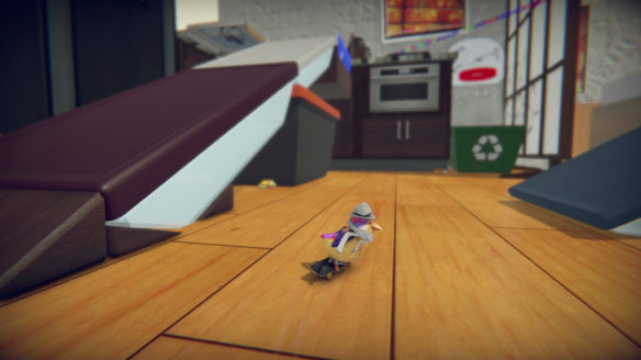 Skatebird ptaszek żółty