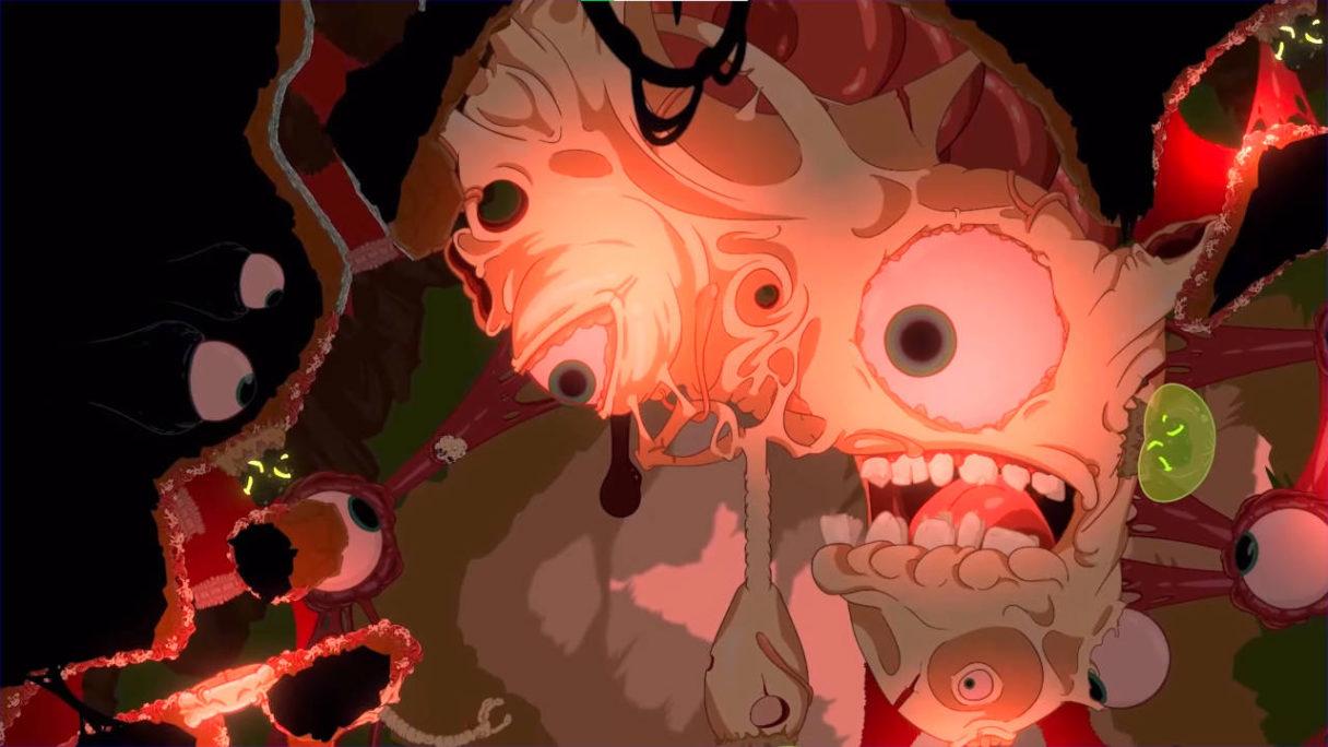 Struggling - płodopodobny potwór, bardzo obrzydliwy widok