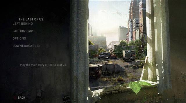 The Last of Us - grafika koncepcyjna nowego menu z widokiem na miasto przez okno
