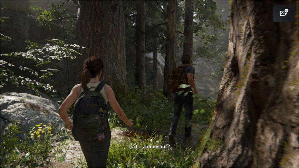 "The Last of Us Part II - Ellie pyta Joela ""Czy to... dinozaur?"""