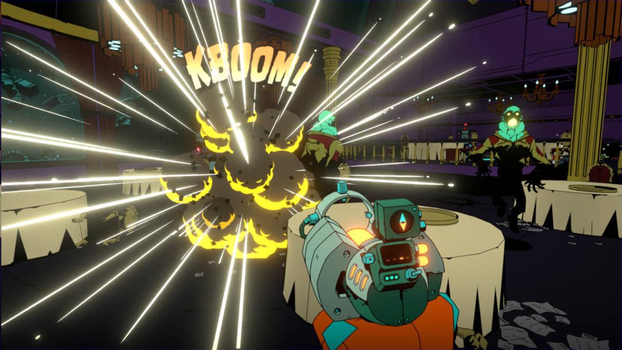 Darmowe gry Epic Games Store - Void Bastards - wybuch w kosmicznym lokalu