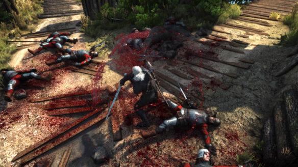 Wiedźmin 3 Dziki Gon - Combo Blood - Geralt rozczłonkował kilku redańskich żołnierzy i obmył okolicę ich krwią