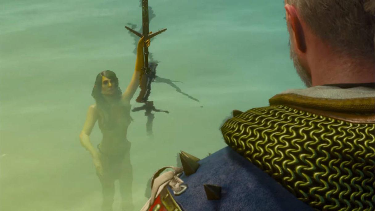 Wiedźmin 3 Dziki Gon - Pani Jeziora - miecz Aeronndight