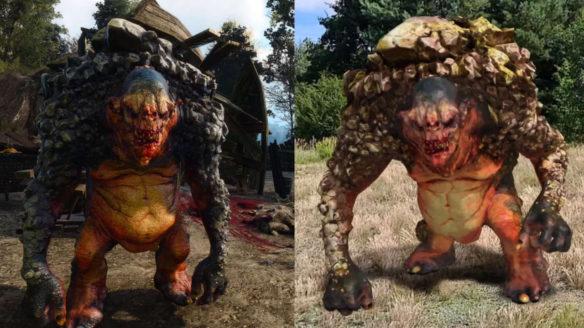 Wiedźmin Pogromca Potworów - porównanie Trolla z wersją z Wiedźmin 3: Dziki Gon