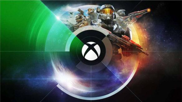 Xbox logo - w tle żołnierze z Halo