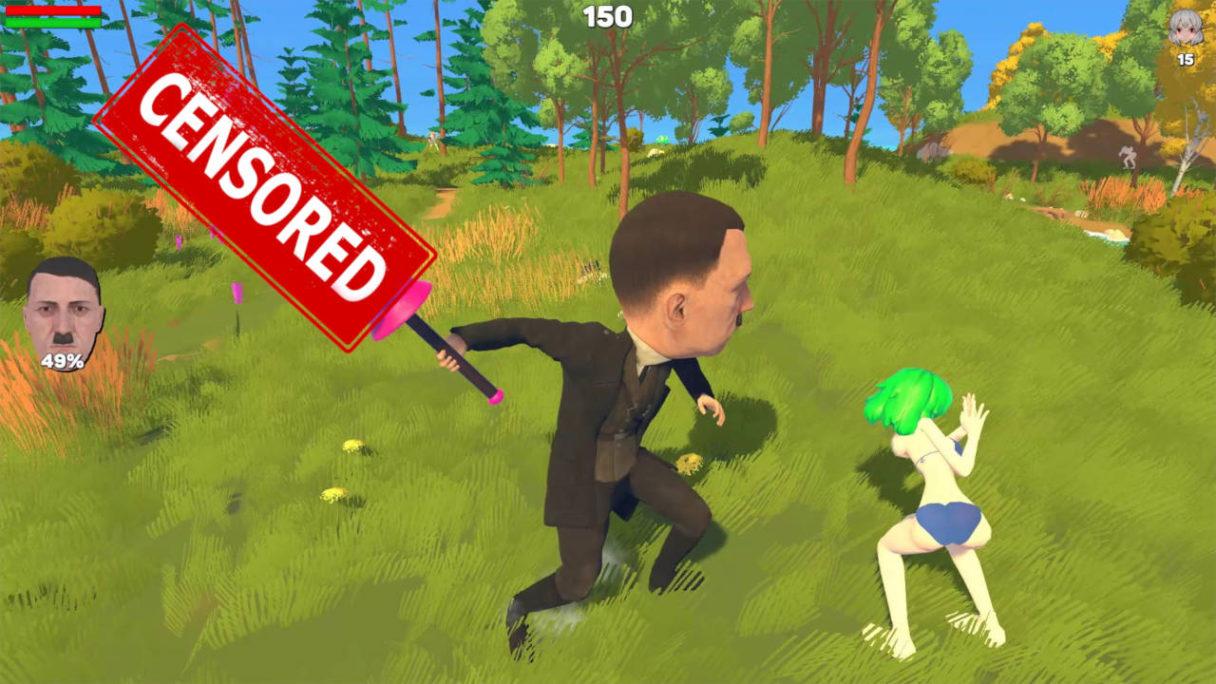 Zbrodniarz wojenny bije ogromnym, ocenzorowanym dildosem dziewczynkę z anime