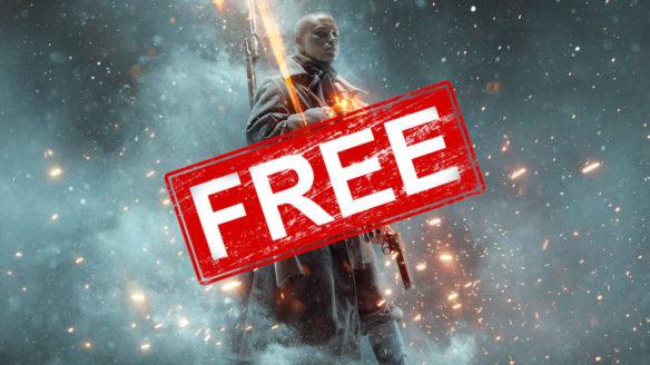 """Battlefield 1 W imię cara - żołnierz z karabinem dumnie stoi, a na nim ogromny stamp z napisem """"Free"""""""