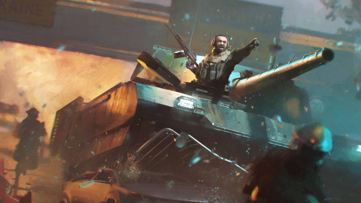 Battlefield 2042 - inżynier jedzie czołgiem na wrogów