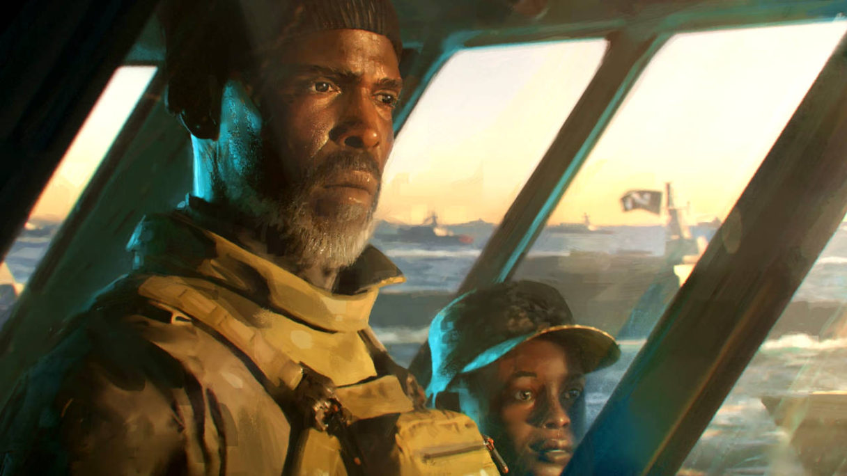 "Battlefield 2042 - grafika koncepcyjna - KIMBLE ""IRISH"" GRAVES"