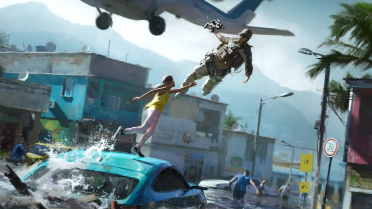 Battlefield 2042 - WEBSTER MACKAY ratuje kobietę przed powodzią - PG