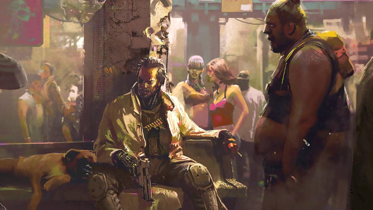 Cyberpunk 2077 - grafika koncepcyjna - życie w Night City