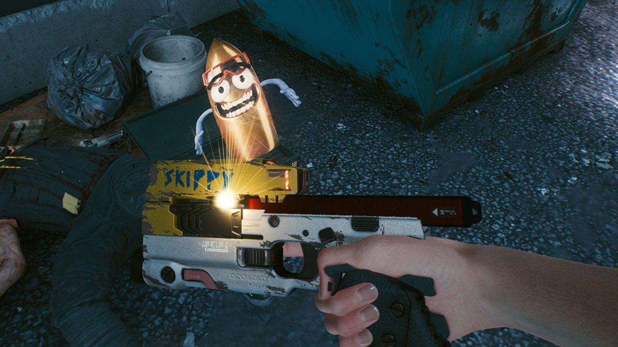 Cyberpunk 2077 pistolet