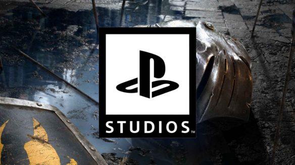 Logo PlayStation Studios na tle grafiki z Demon's Souls Remake