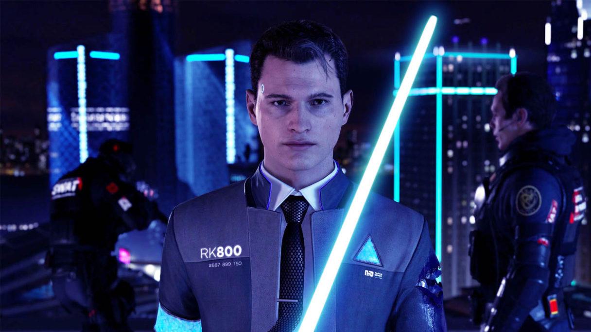 Detroit: Beco,me Human od Quantic Dream - Android z mieczem świetlnym