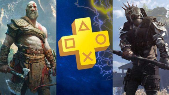 Kratos z God of War, logo PS Plus, rzezimieszek z Dying Light 2 Stay Human w opancerzowej punk zbroi