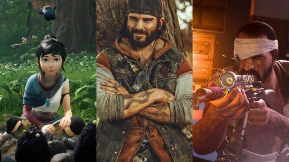Kena wśród duszków i zieleni, cosplay z Days Gone, mężczyzna z opatrunkiem na głowie strzela z karabinu - Call of Duty: Warzone